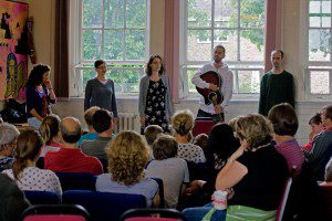 Hungarian team leading worship
